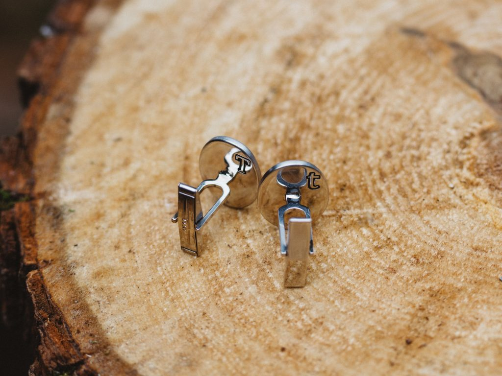 The cufflinks were designed with hidden engravings on the back.
