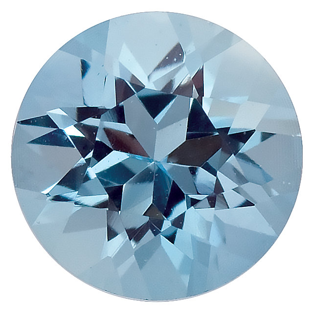 A Round Aquamarine Birthstone for the month of march