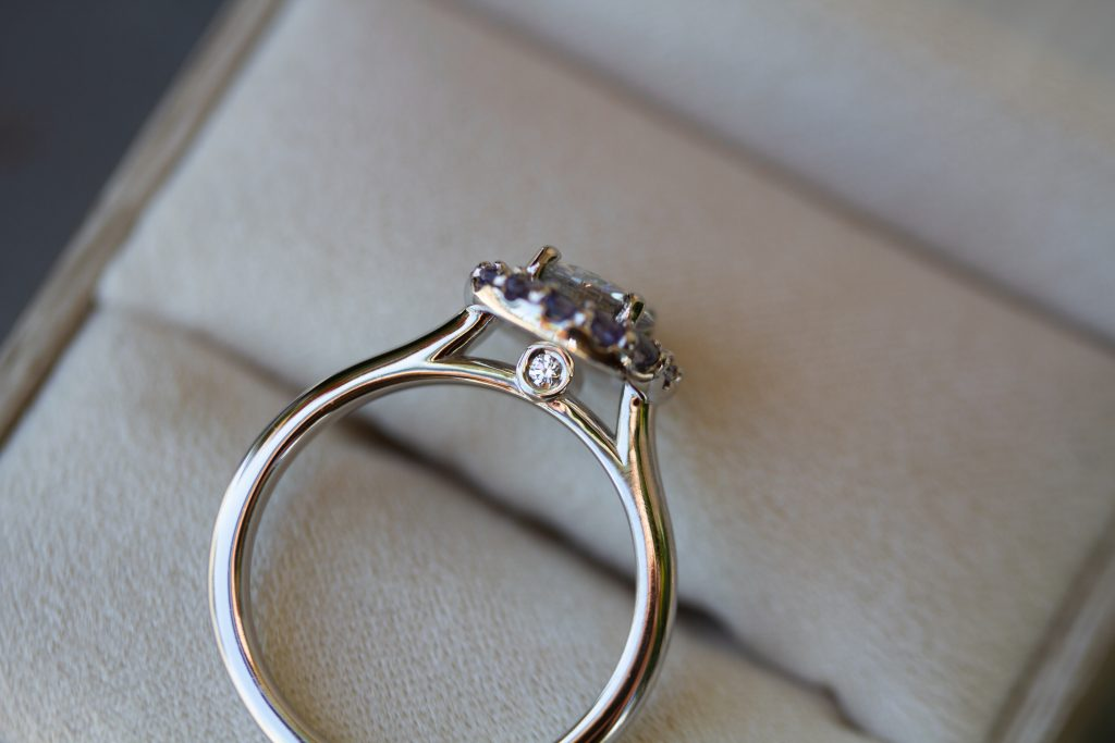 """surprise"" moissanite"