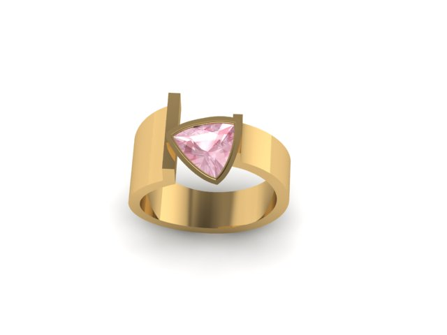 CAD rendering of the sketch used to replicate a ring design