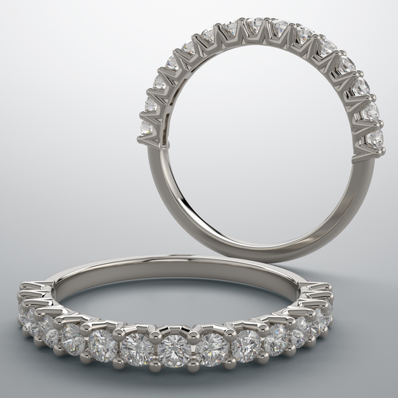 a 1/2 eternity band.