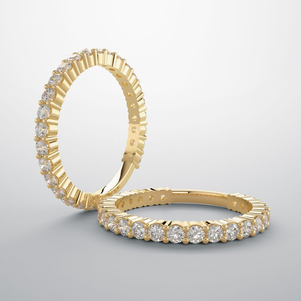 a 3/4 eternity band.