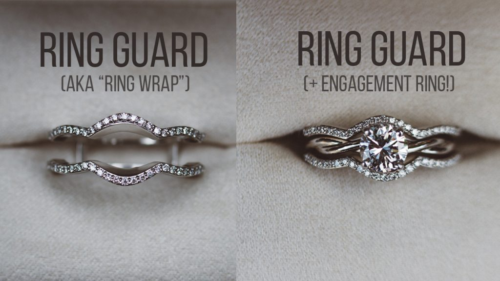 Ring guard with and without and engagement ring