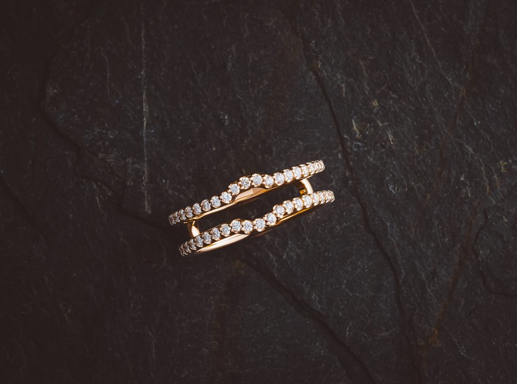 Custom rose gold ring wrap or jacket