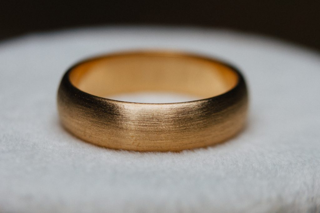 Royal Yellow 18K wedding band.